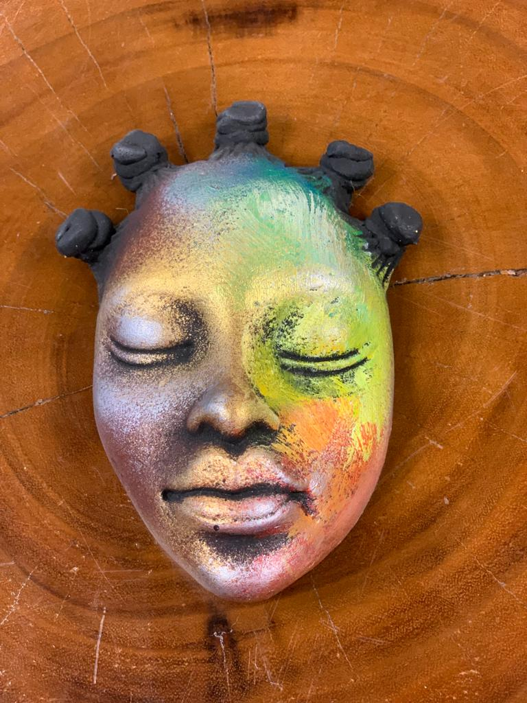 African Face Masks (1pc) - Vibrant Ceramic - Buy Now!